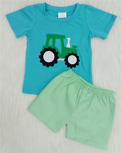 Boys Green Tractor Set