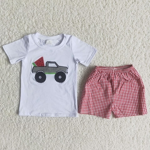 Boys Watermelons and Trucks Set
