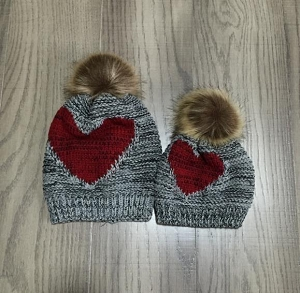 Mommy and Me Heart Hats