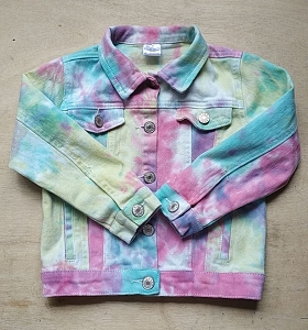Jean TieDye Pink Jacket  FALL